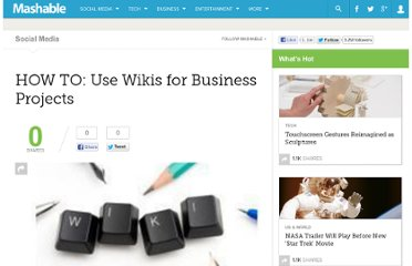 http://mashable.com/2009/07/01/wikis-business-projects/