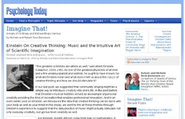 http://www.psychologytoday.com/blog/imagine/201003/einstein-creative-thinking-music-and-the-intuitive-art-scientific-imagination