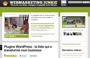 http://www.webmarketingjunkie.com/plugins-wordpress-la-liste-qui-a-transforme-mon-business.php