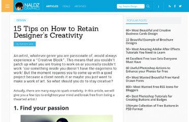 http://naldzgraphics.net/design-2/15-tips-on-how-to-retain-designers-creativity/