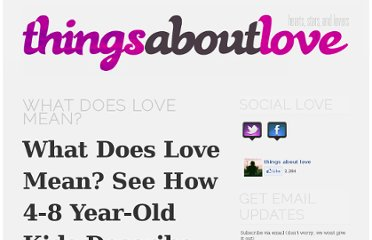 http://www.thingsaboutlove.com/what-does-love-mean