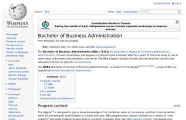 http://en.wikipedia.org/wiki/Bachelor_of_Business_Administration