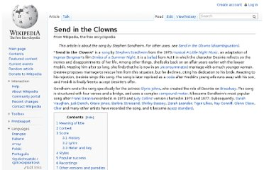 http://en.wikipedia.org/wiki/Send_in_the_Clowns