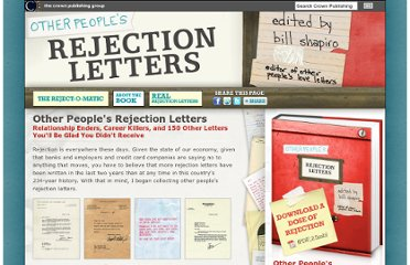 http://www.randomhouse.com/crown/features/other-peoples-rejection-letters/about-the-book.php