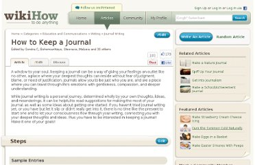http://www.wikihow.com/Keep-a-Journal