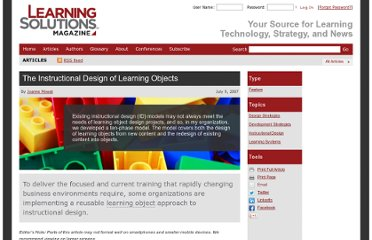 http://www.learningsolutionsmag.com/articles/176/the-instructional-design-of-learning-objects
