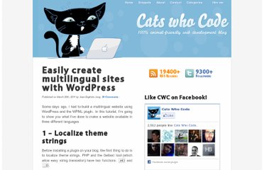 http://www.catswhocode.com/blog/easily-create-multilingual-sites-with-wordpress