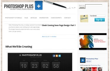 http://www.photoshop-plus.co.uk/2011/03/22/sleek-coming-soon-page-design/