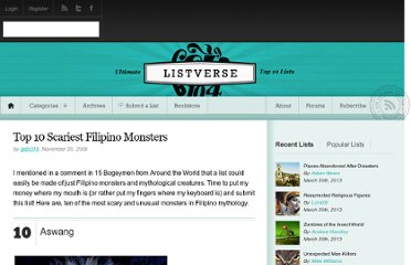 http://listverse.com/2009/11/20/top-10-scariest-filipino-monsters/
