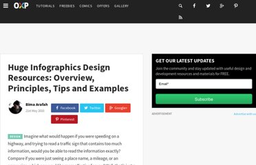 http://www.onextrapixel.com/2010/05/21/huge-infographics-design-resources-overview-principles-tips-and-examples/