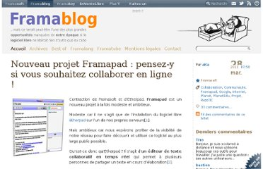 http://www.framablog.org/index.php/post/2011/03/28/framapad-collaboration-en-ligne