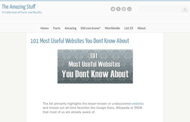 http://multichrome.blogspot.com/2011/01/101-most-useful-websites-you-dont-know.html