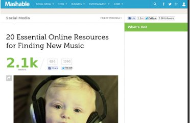 http://mashable.com/2011/03/28/music-discovery-services/