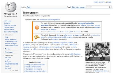 http://en.wikipedia.org/wiki/Newsroom