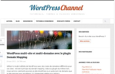 http://wpchannel.com/wordpress-multi-site-multi-domaine-plugin-domain-mapping/