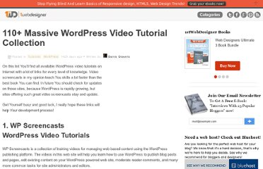 http://www.1stwebdesigner.com/tutorials/110-massive-wordpress-video-tutorial-collection/