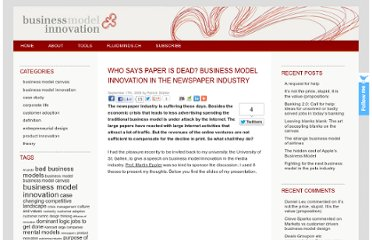 http://blog.business-model-innovation.com/2009/09/who-says-paper-is-dead-business-model-innovation-in-the-newspaper-industry/