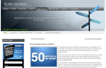 http://www.robinsharma.com/blog/03/the-50-new-rules-of-work/