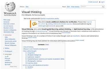 http://en.wikipedia.org/wiki/Visual_thinking