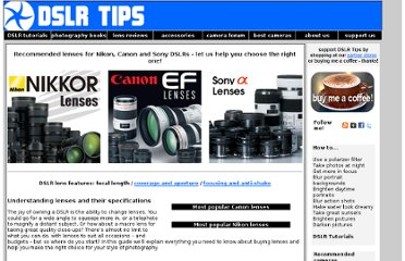 http://www.dslrtips.com/lens_guide/Lens_buying_guide.shtml