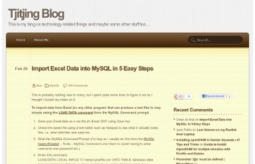 http://blog.tjitjing.com/index.php/2008/02/import-excel-data-into-mysql-in-5-easy.html