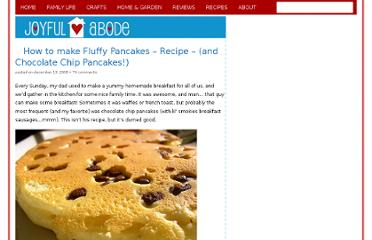 http://www.joyfulabode.com/2008/12/13/how-to-make-fluffy-pancakes-recipe-and-chocolate-chip-pancakes/