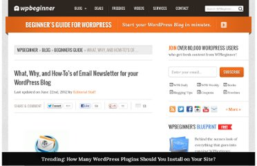 http://www.wpbeginner.com/beginners-guide/what-why-and-how-tos-of-email-newsletter-for-your-wordpress-blog/