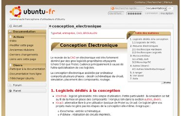 http://doc.ubuntu-fr.org/conception_electronique