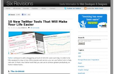 http://sixrevisions.com/tools/10-new-twitter-tools-that-will-make-your-life-easier/