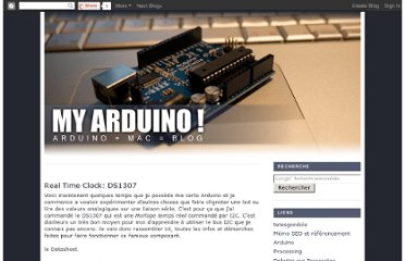 http://myarduino.blogspot.com/2008/10/real-time-clock-ds1307.html