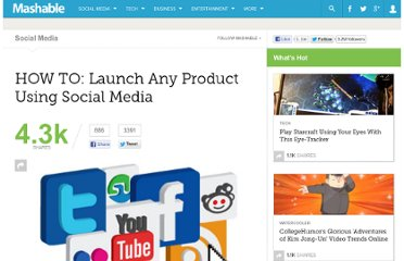 http://mashable.com/2011/03/30/product-launch-social-media/