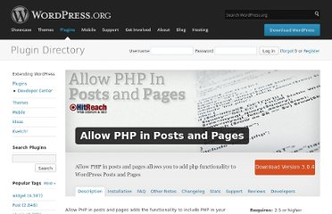 http://wordpress.org/extend/plugins/allow-php-in-posts-and-pages/