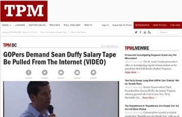 http://tpmdc.talkingpointsmemo.com/2011/03/gopers-demand-sean-duffy-salary-tape-be-pulled-from-the-internet.php