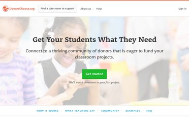 http://www.donorschoose.org/teachers