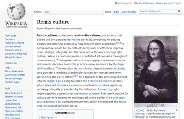 http://en.wikipedia.org/wiki/Remix_culture