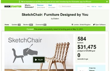 http://www.kickstarter.com/projects/diatom/sketchchair-furniture-designed-by-you