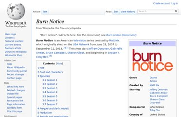 http://en.wikipedia.org/wiki/Burn_Notice