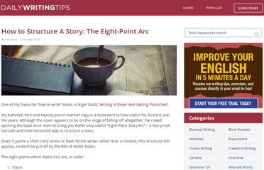 http://www.dailywritingtips.com/how-to-structure-a-story-the-eight-point-arc/