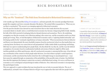 http://rick.bookstaber.com/2011/02/why-are-we-irrational-path-from.html