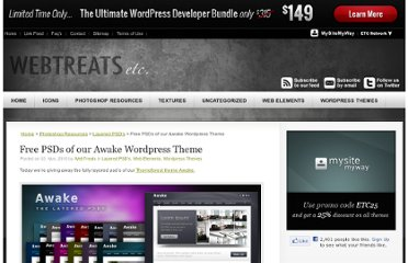 http://webtreats.mysitemyway.com/free-psds-of-our-awake-wordpress-theme/