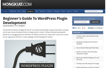 http://www.hongkiat.com/blog/beginners-guide-to-wordpress-plugin-development/