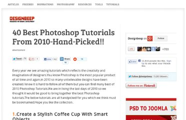 http://designbeep.com/2010/12/24/40-best-photoshop-tutorials-from-2010-hand-picked/