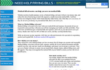 http://www.needhelppayingbills.com/html/medical_bill_advocates_help_sa.html