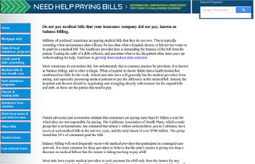 http://www.needhelppayingbills.com/html/medical_bills_you_should_not_p.html
