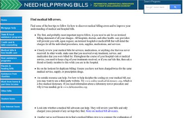 http://www.needhelppayingbills.com/html/how_to_find_medical_billing_er.html