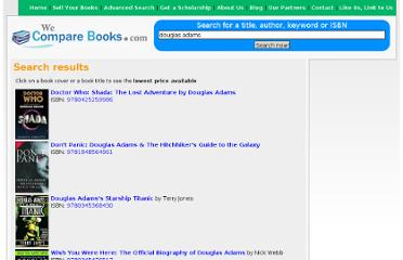 http://www.wecomparebooks.com/search.php?t=douglas+adams