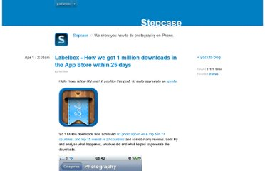 http://blog.stepcase.com/labelbox-how-we-got-1-million-downloads-in-th
