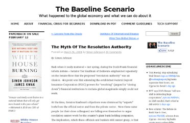 http://baselinescenario.com/2011/03/31/the-myth-of-the-resolution-authority/