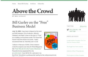 http://abovethecrowd.com/2009/07/15/bill-gurley-on-the-free-business-model/