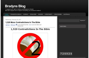 http://www.bradyns-blog.com/2011/02/contradictions-in-bible.html